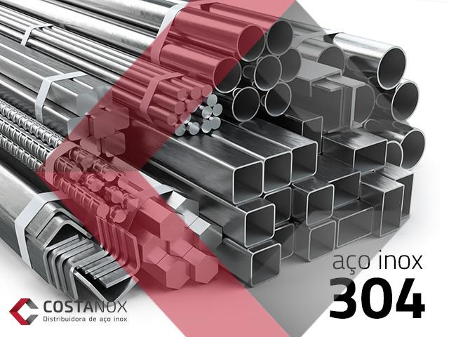 Aço inoxidável 304