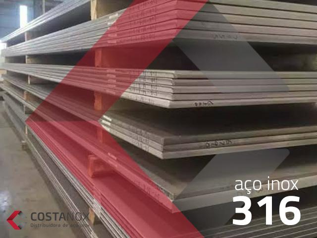 Aço inoxidável 316